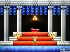 Zelda II: Triforce by BLUEamnesiac