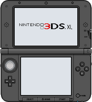 Nintendo 3DS XL [black] by BLUEamnesiac