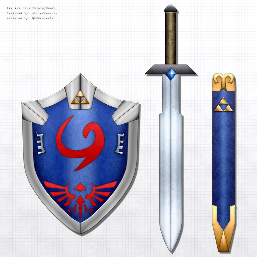 new age deku shield heros sword by blueamnesiac on