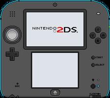 Nintendo 2DS [blue] by BLUEamnesiac