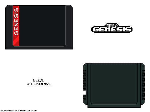 Sega Genesis Mega Drive Cartridges By Blueamnesiac On
