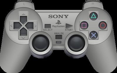 Sony PlayStation Analog Controller by BLUEamnesiac