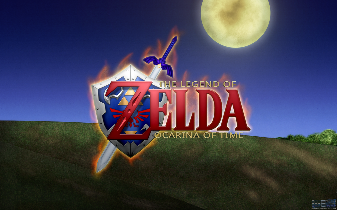 ocarina of time hd wallpaperblueamnesiac on deviantart