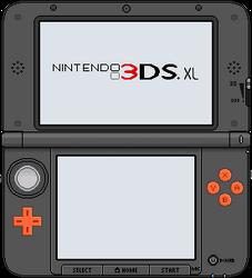 Nintendo 3DS XL [orange x black] by BLUEamnesiac