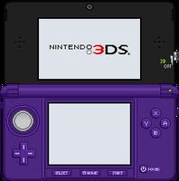 Nintendo 3DS [Midnight Purple] by BLUEamnesiac
