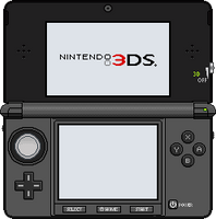 Nintendo 3DS [Cosmo Black] by BLUEamnesiac