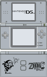 Nintendo DS Lite [Phantom Hourglass Silver] by BLUEamnesiac
