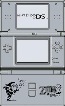 Nintendo DS Lite [Phantom Hourglass Silver]