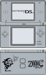 Nintendo DS Lite [Phantom Hourglass Silver] by BLUEamnesiac