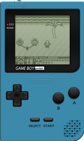Nintendo Game Boy Pocket [Ice Blue] by BLUEamnesiac