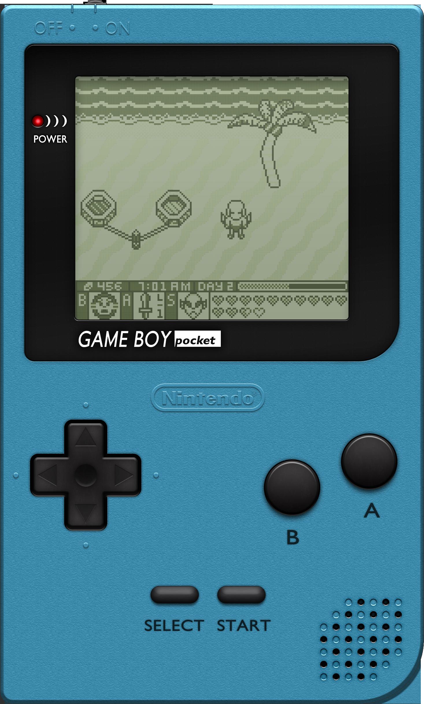 Nintendo Game Boy Pocket [Ice Blue] by BLUEamnesiac on