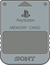 Sony PlayStation Memory Card by BLUEamnesiac