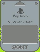 Sony PlayStation Memory Card by BLUEamnesiac