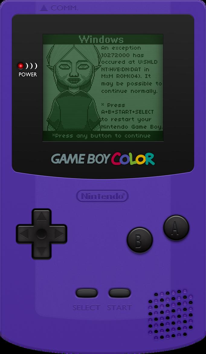 Nintendo Game Boy Color [Grape] by BLUEamnesiac on DeviantArt