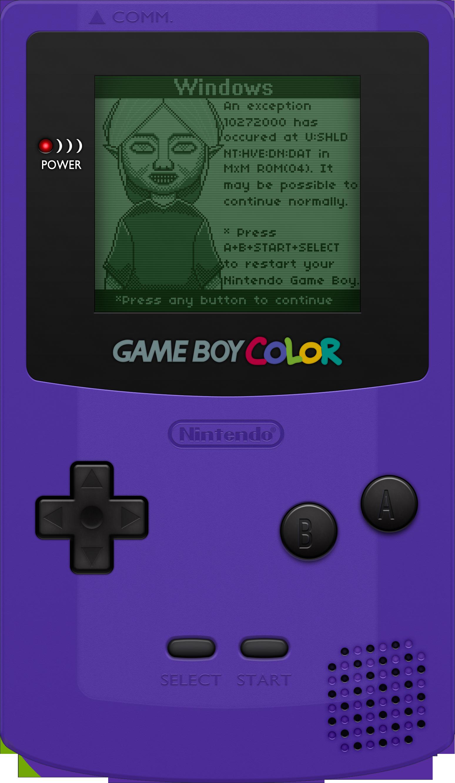 Gameboy color -  Nintendo Game Boy Color Grape By Blueamnesiac