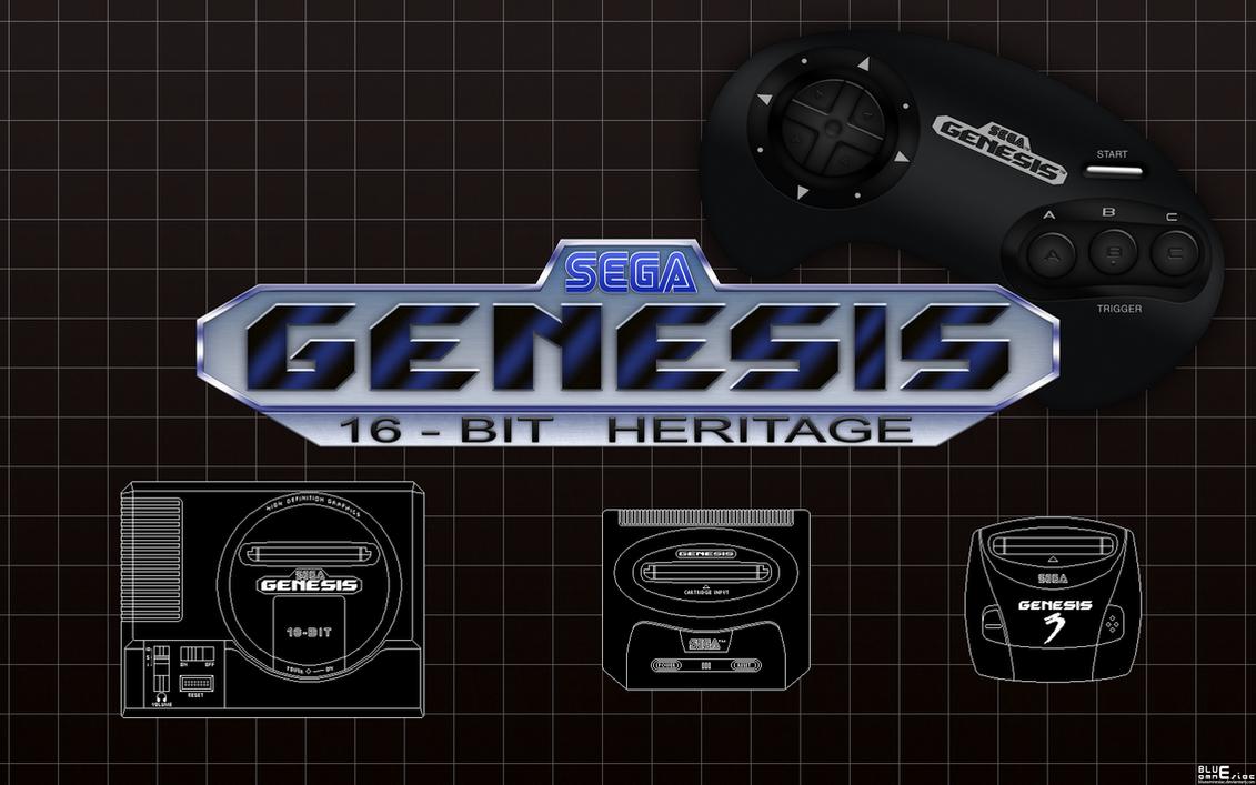 Sega Genesis: 16-bit Heritage Wallpaper by BLUEamnesiac