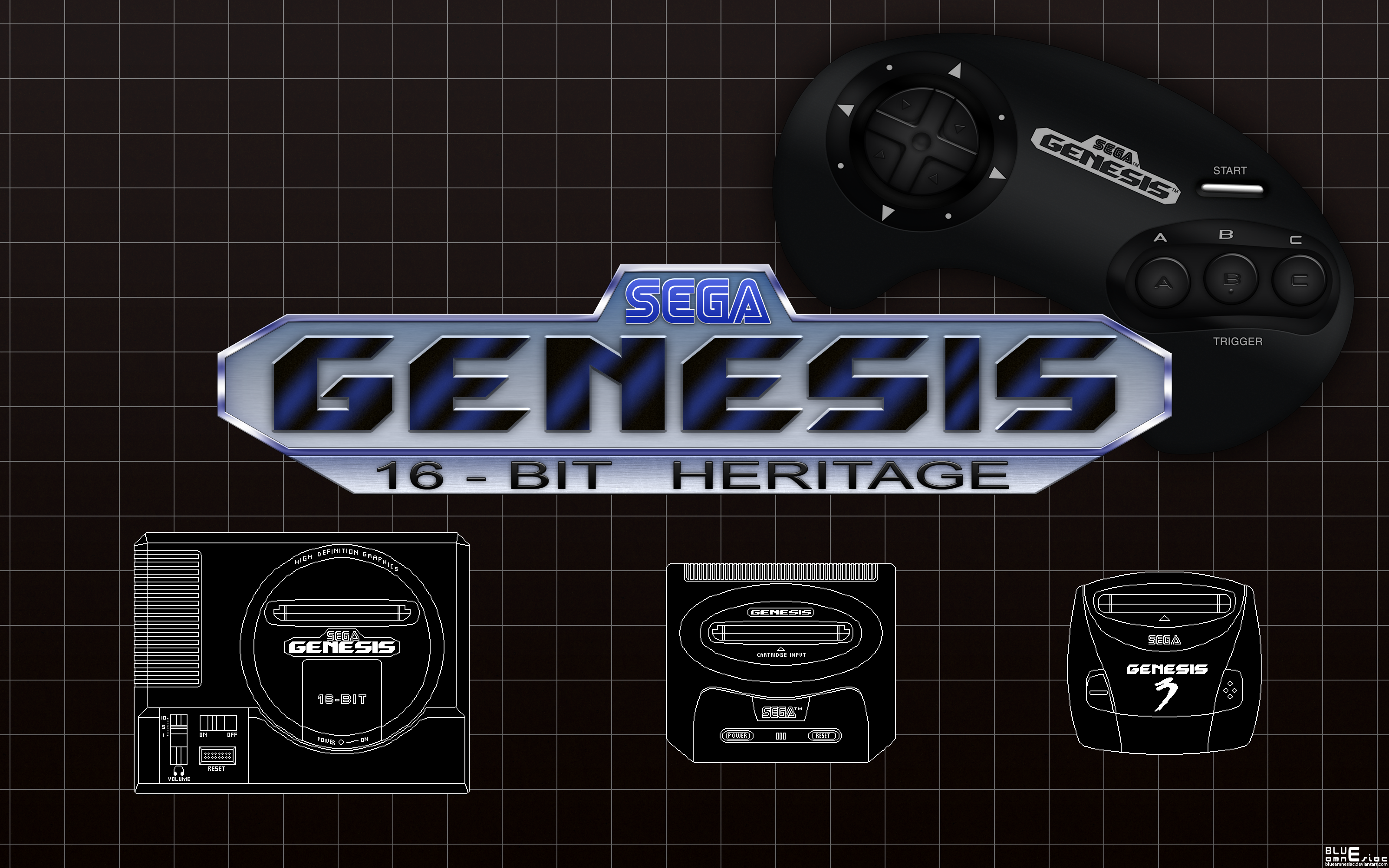 Sega Genesis: 16-bit Heritage Wallpaper by BLUEamnesiac