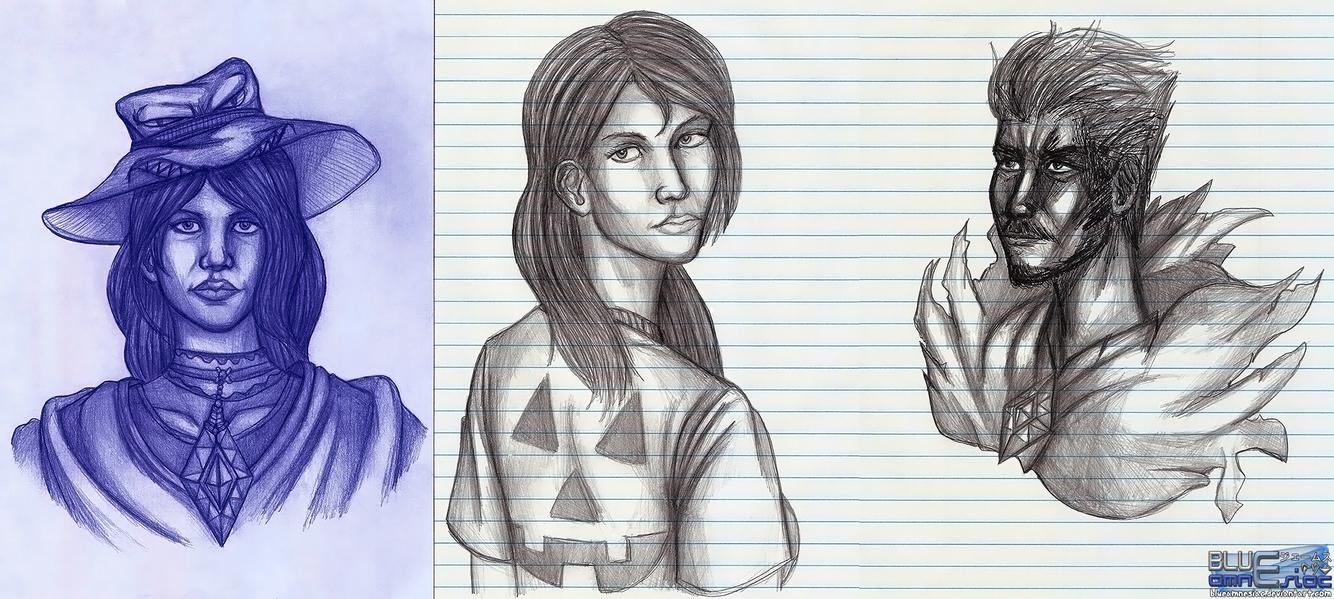 Random Sketches 10312014 by BLUEamnesiac