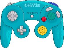 Nintendo Gamecube Controller [Emerald Blue] by BLUEamnesiac