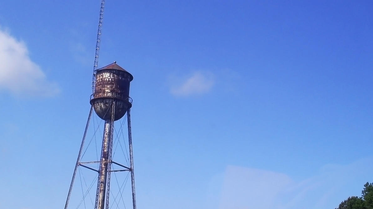 Old Water Tower by BLUEamnesiac
