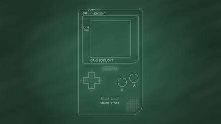 Nintendo Game Boy Light [Chalkboard]