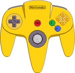 Nintendo 64 Controller [Yellow]