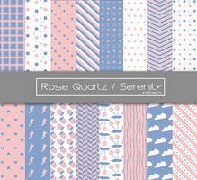 Rose Quartz and Serenity patterns by icetaemDA