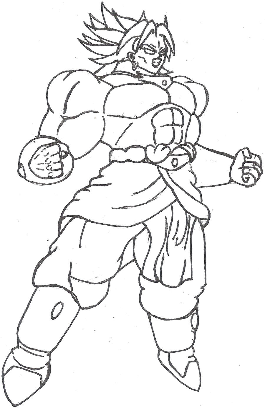 broly coloring pages - photo#27
