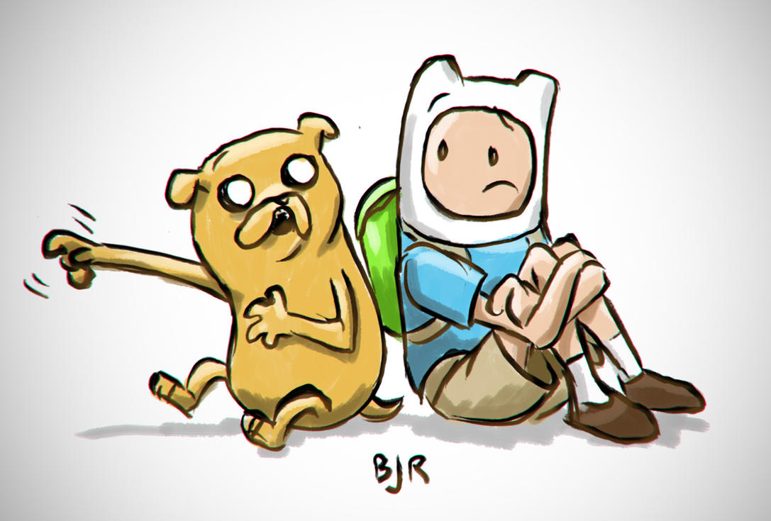Finn and Jake by erikjdurwoodii