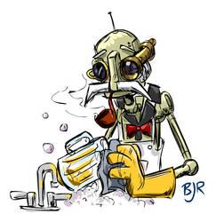 Sad Butler-Bot by Mr-MegaTronic