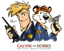 Calvin and Hobbes - P.I. by Mr-MegaTronic