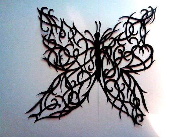 Butterfly paper cut (original design) by kagirinai-yume