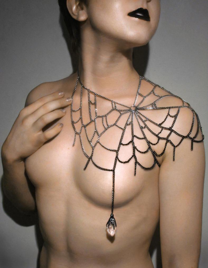 Spiderweb Necklace by sunshinerin