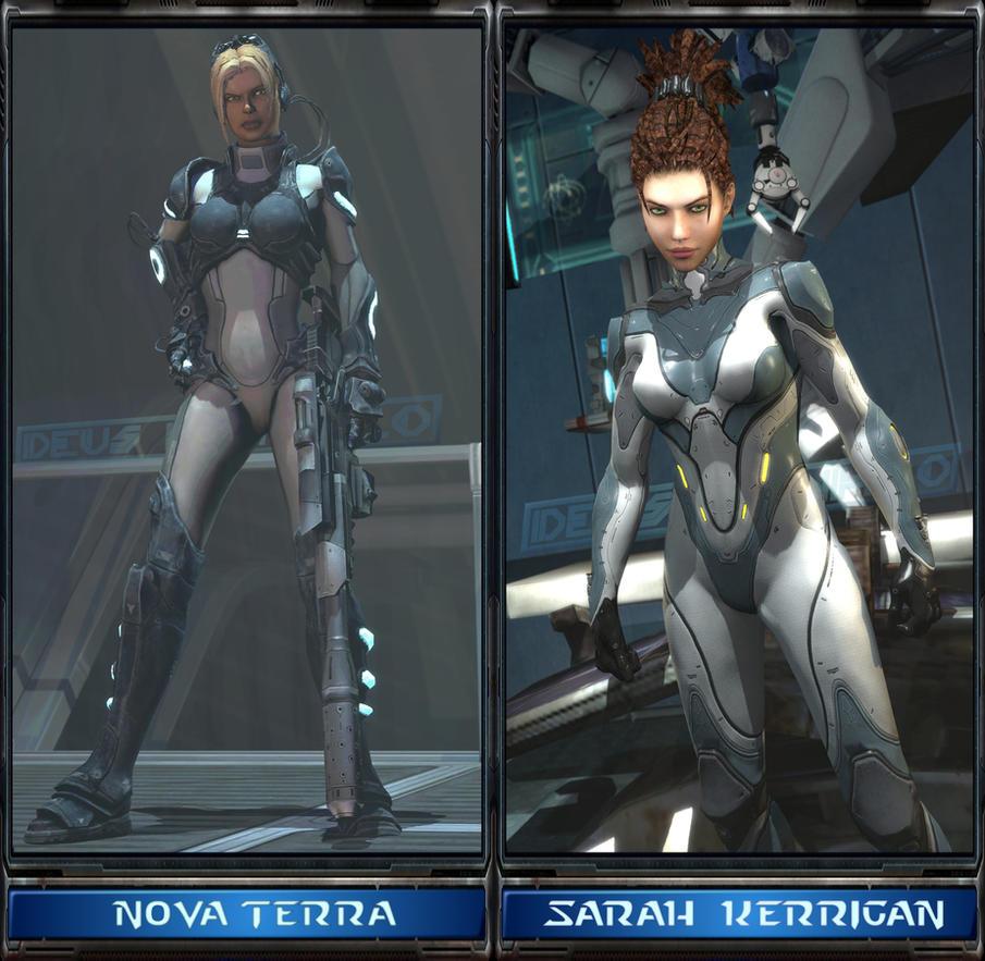 Starcraft 2 Sarah Kerrigan and Nova Terra Gmod/SFM by DeusExNihilo