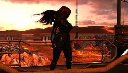 Akira - Lava Field by Riku20xx