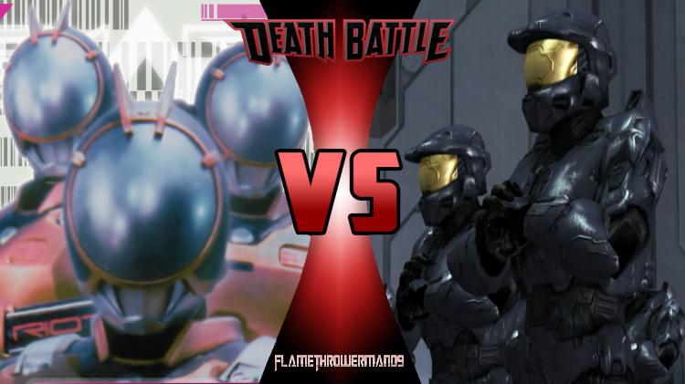 Death Battle: Riotroopers vs Tex Drones by FlamethrowerMan09