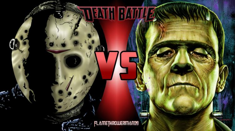 Death Battle: Jason vs Frankenstein's Monster by FlamethrowerMan09