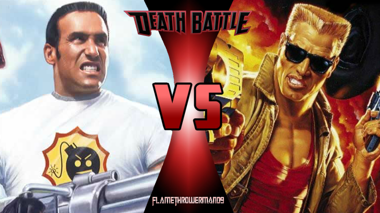 Death Battle: Serious Sam vs Duke Nukem by FlamethrowerMan09