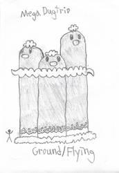 Mega Dugtrio Doodle