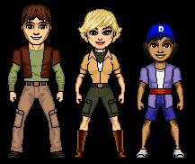 Derek, Margo, and Moki
