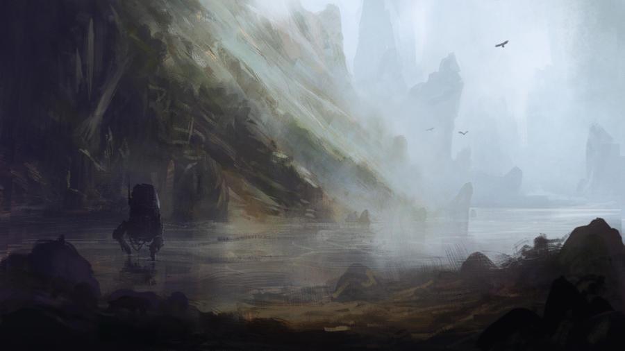 Abandoned Mech by GabrielWigren