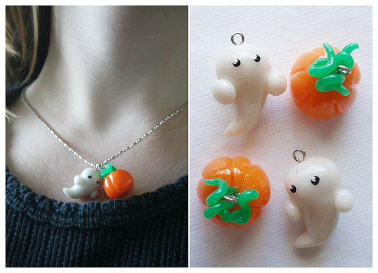 Art I Cake Halloween Charms : Halloween Charm Necklace by Shiritsu on DeviantArt