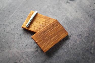Polymer Clay Wooden Cutting Board by Shiritsu