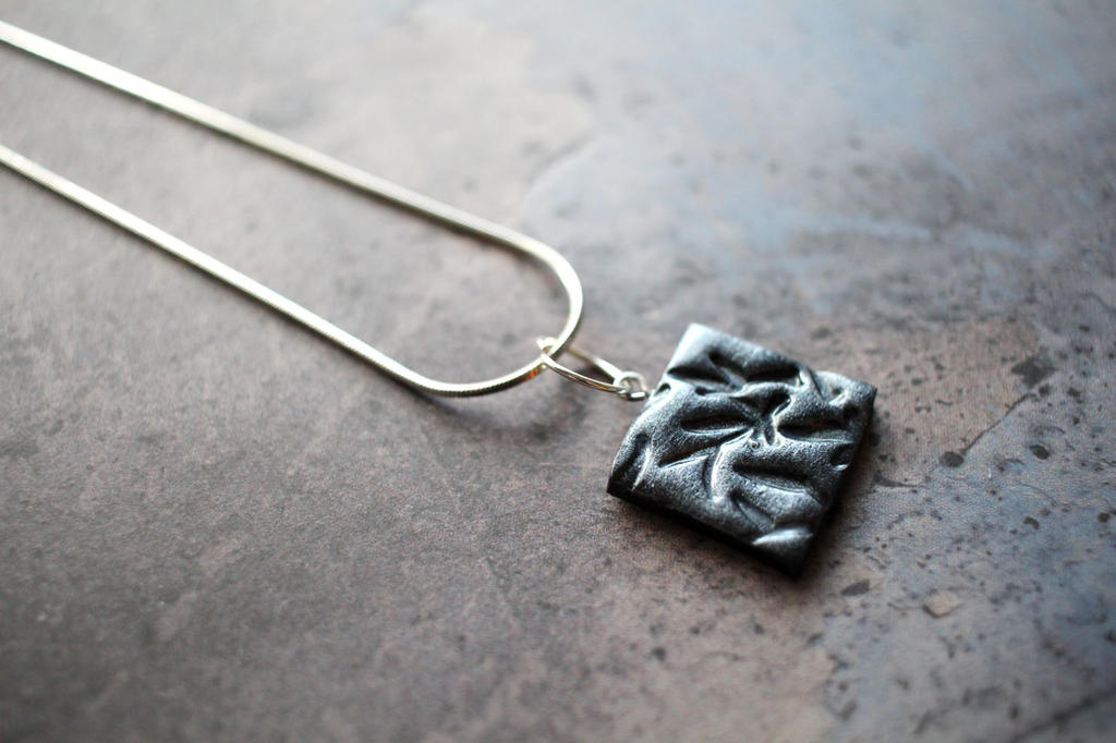 Silver Clay Pendant by Shiritsu