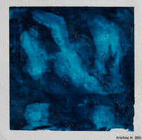 Four Small Blue Paintings IV by kiukkukissa