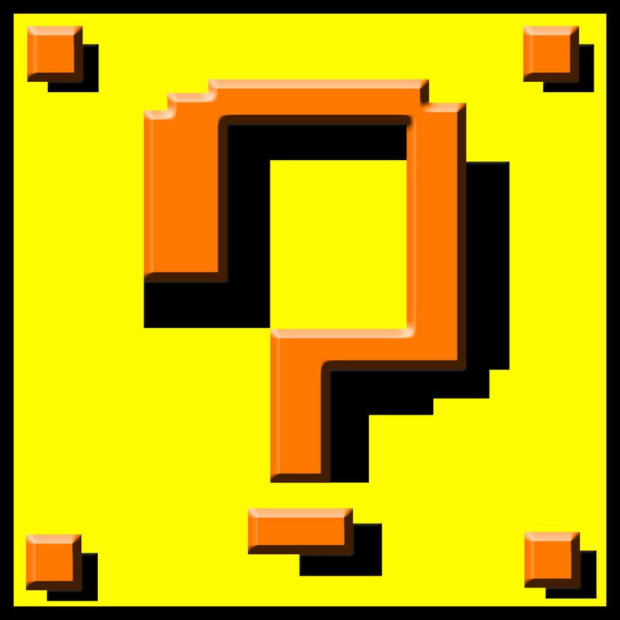 Mario Block Pixel Art