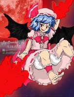 Powerful Remilia Scarlet (Alternative Background) by SamidareScarletSpy