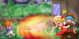 Pumpkin Smashing by SamidareScarletSpy