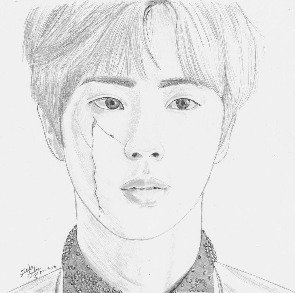 Bts Jin Kim Seokjin Drawing By Gwiyomibaozi On Deviantart
