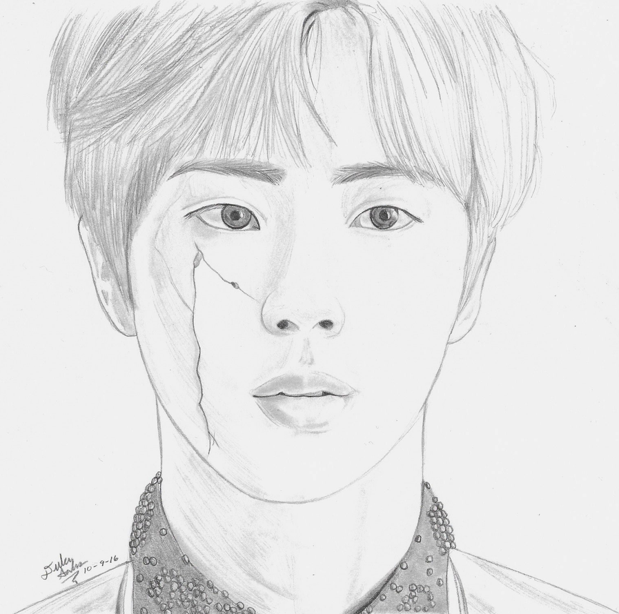 BTS Jin / Kim Seokjin Drawing By GwiyomiBaozi On DeviantArt